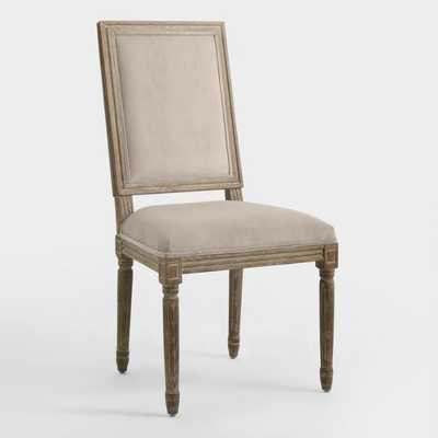 Cocoa Square-Back Paige Dining Chairs, Set of 2: Brown - Fabric by World Market - World Market/Cost Plus