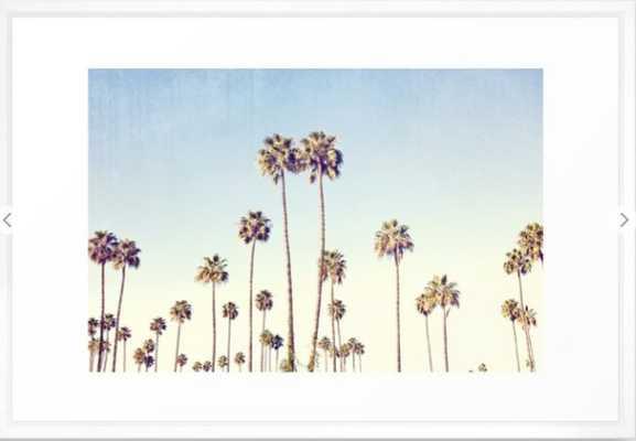 Cali Palms Framed Art Print - Society6