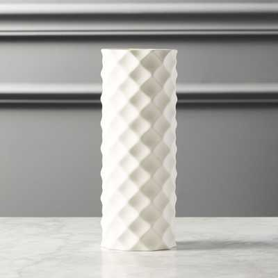 Desi White Vase - CB2