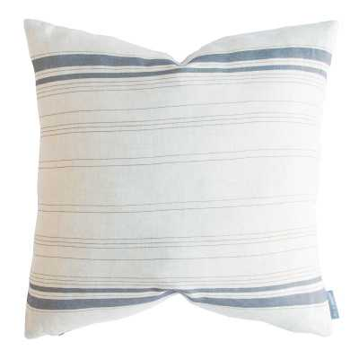 "FRENCH STRIPE PILLOW WITHOUT INSERT, 20"" x 20"" - McGee & Co."