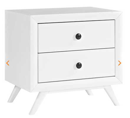 TRACY NIGHTSTAND - WHITE - Modway Furniture