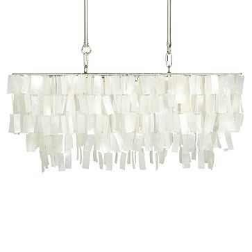 Large Rectangle Hanging Capiz, White - West Elm