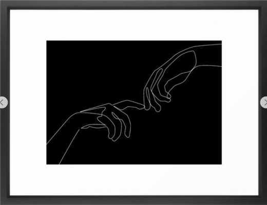 Touch in dark Framed Art Print 20 x 26 - Society6