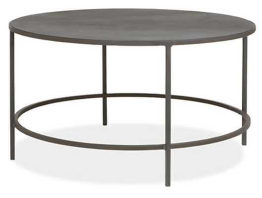 Slim 30 diam 16h Round Coffee Table in Natural Steel - Room & Board