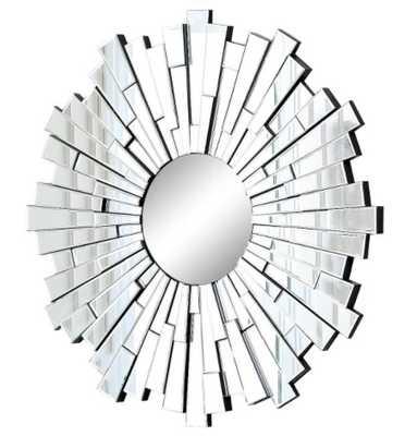 Sunburst Andre Decorative Wall Mirror Light Silver - Abbyson Living - Target