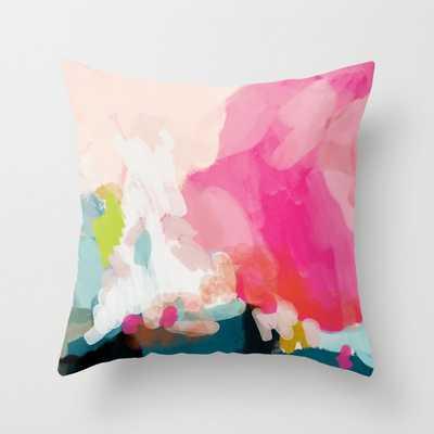pink sky Throw Pillow - Society6