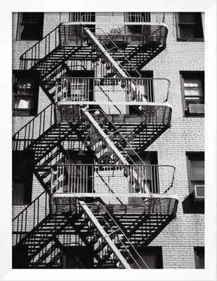 Fire Escape on Apartment Building - art.com