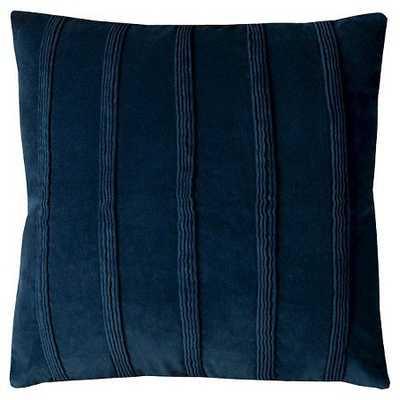 Navy Pintuck Stripes Throw Pillow - Target