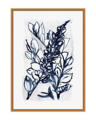INDIGO BOTANICAL 1 Framed Art - McGee & Co.