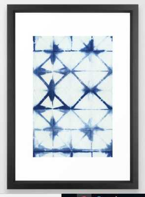 Shibori Thirteen Framed Art Print - Society6