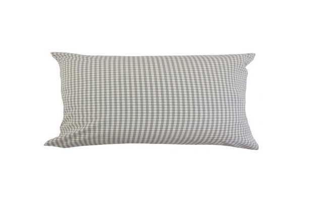 "Keats Plaid Lumbar Pillow - 12"" x 18"" - Down Insert - Linen & Seam"
