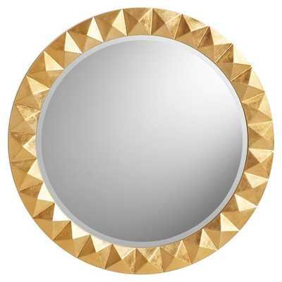 The Emily & Meritt Studded Round Mirror, Gold - Pottery Barn Teen