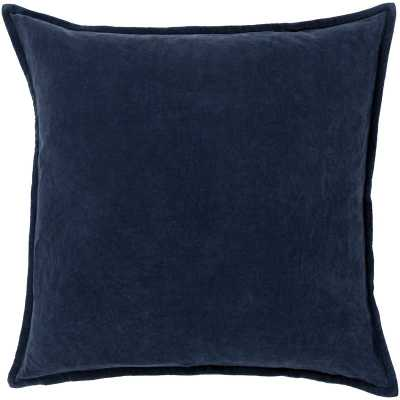 Eduarda Velvet Pillow Cover - navy - 20x20 - Birch Lane