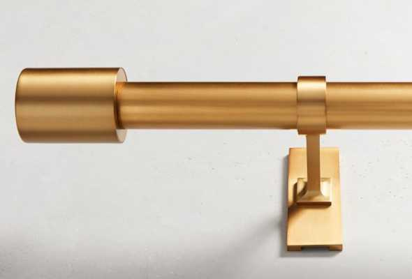 "Oversized Metal Rod, 28""-48"", Antique Brass - West Elm"