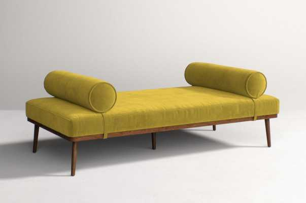 Darcy Daybed- Velvet in Chartreuse - Anthropologie