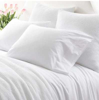 ESSENTIAL PERCALE WHITE SHEET SET - Queen - Pine Cone Hill