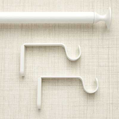 "Single 28-48"" White Curtain Rod - Crate and Barrel"