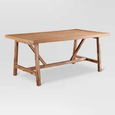 Wheaton Farmhouse Trestle Dining Table - Threshold - Target