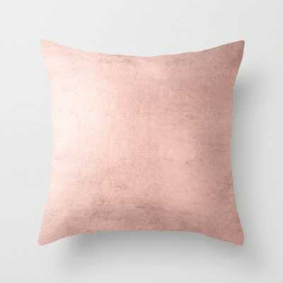"Blush Rose Gold Ombre Throw Pillow - Indoor Cover (18"" x 18"") with pillow insert by Betterhome - Society6"