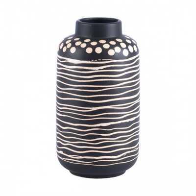 Niger Small Vase Black & White - Zuri Studios