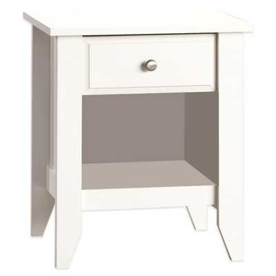 Child Craft™ Relaxed Traditional Nightstand in White - Buy Buy Baby