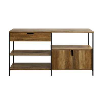 Carbon Loft 58-inch Open Shelving Sideboard - Reclaimed Barnwood - Overstock