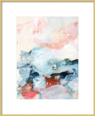 Abstract Painting III with Frosted Gold Metal Frame- 16'' x 20''- With Metal Frame - Artfully Walls