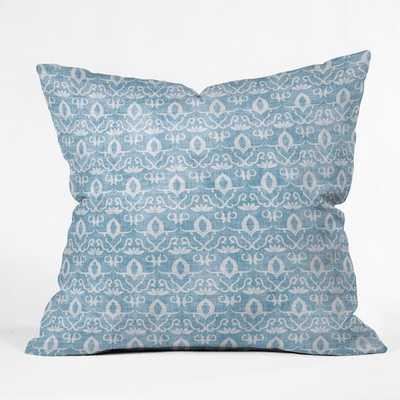"""WIDDEN INDIGO Throw Pillow -18 x 18"""" - With Insert - Wander Print Co."""