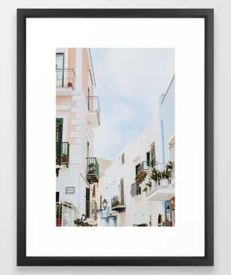 italy Framed Art Print - Vector Black - Society6
