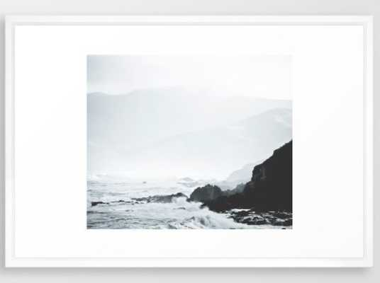 Sea Waves Seascape, Ocean Waves - FRAMED ART, 26x38 - Society6