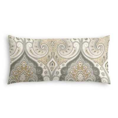 Throw Pillow - Latika - Limestone - Lumbar, Down Insert - Loom Decor