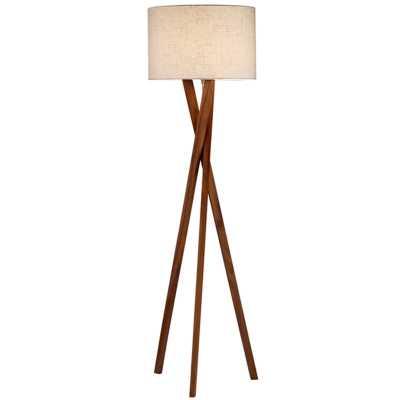 SLEEK WOOD MODERN TRIPOD FLOOR LAMP - Shades of Light