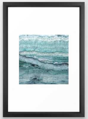Mystic Stone Aqua Teal Framed Art Print - Society6