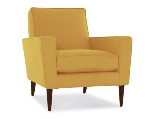 Yellow Winslow Mid Century Modern Chair - Taylor Golden - Mocha - Joybird