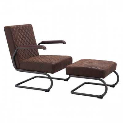 Father Lounge Chair Vintage Brown - Zuri Studios
