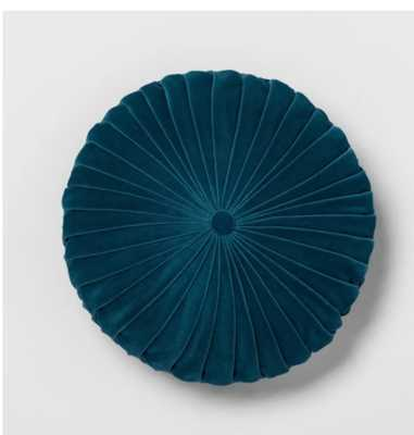 Pleated Velvet Round Throw Pillow - Opalhouse - Target