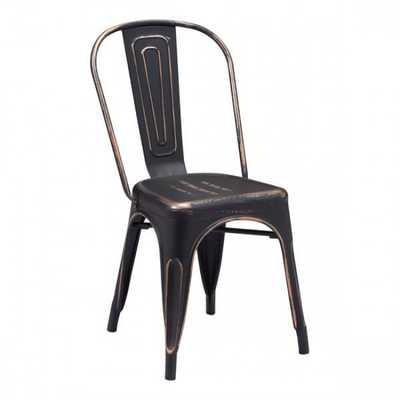 Elio Dining Chair Anti Black Gold, Set of 2 - Zuri Studios