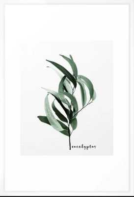 Eucalyptus - Australian gum tree Framed Art Print - Society6