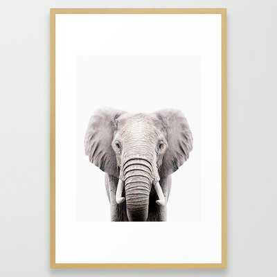 ELEPHANT Framed Art Print by FIONA'S FARM & Co. - Society6
