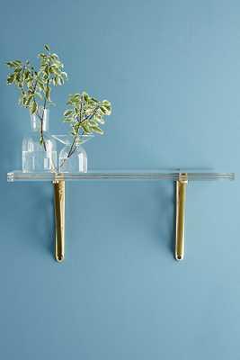Brass Inlay Lucite Shelf - Anthropologie
