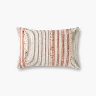 """P1139 MH Natural / Blush - 13"""" x 21"""" - Poly Filled - Loma Threads"""