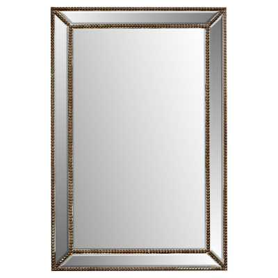 Baek Traditional Rectangle Glass/Wood Wall Mirror - AllModern