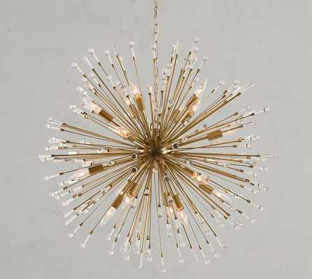 Explosion Crystal Chandelier, Brass - Pottery Barn