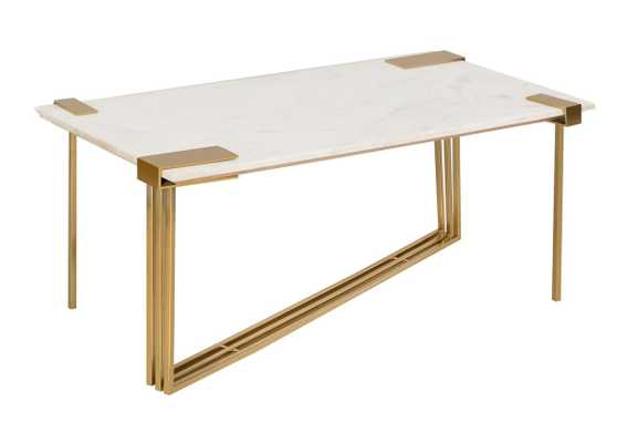 Daneb White Marble Cocktail Table - Maren Home