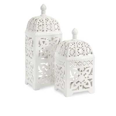 Maya Tealight Lanterns - Set of 2 - Mercer Collection