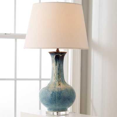 INDIGO DRIP CERAMIC TABLE LAMP - Shades of Light