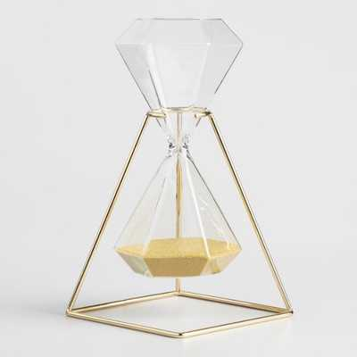 Hexagonal Hourglass with Gold Stand - Metal by World Market - World Market/Cost Plus