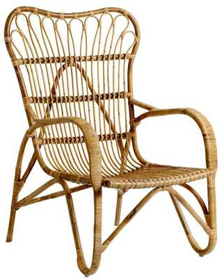 HELOISA LOUNGE CHAIR, NATURAL RATTAN - Lulu and Georgia
