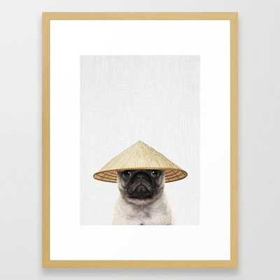 """PACHICO Framed Art Print by Tai Prints- FRAME Conservation Natural- Medium (gallery) - 20"""" X 26"""" - Society6"""