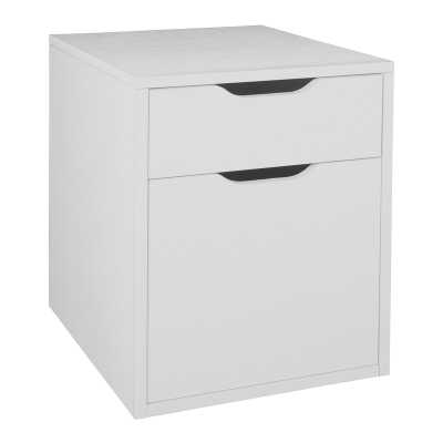 Freestanding 2-Drawer Vertical Filing Cabinet - white - Wayfair